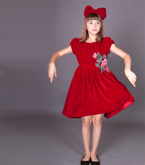 rochie rosie catifea