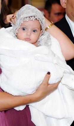 Set de botez princiar, panza de mir