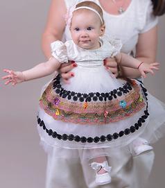 rochita botez model popular, costum popular botez, rochita botez, hainute botez
