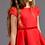 rochita fata rosie tul dantela aplicata