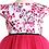 rochie fete volane roz flori cires tul