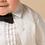 costum botez baiat alb detaliu