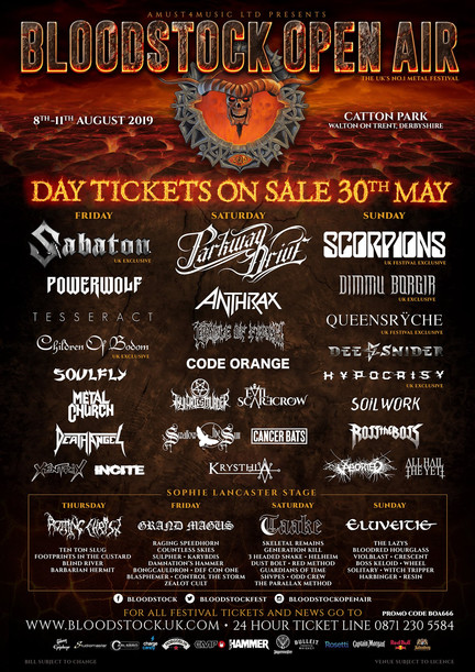 The RT Rock Show - Bloodstock Open Air Festival Special 2019 - Playlist