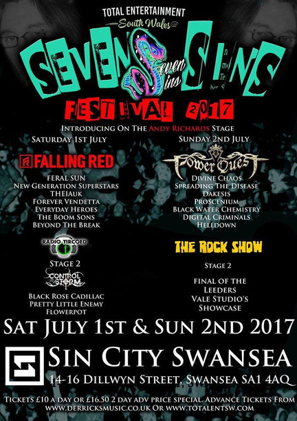 THE RADIO TIRCOED RT ROCK SHOW STAGE - SEVEN SINS FESTIVAL 2017