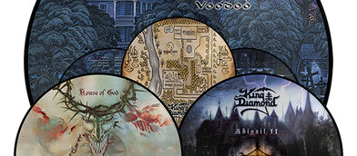 KING DIAMOND: 'Abigail II: The Revenge', 'House of God', 'Voodoo' LP re-issu