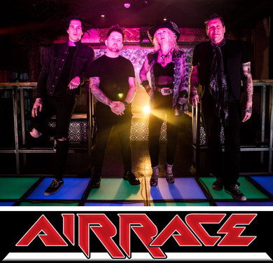 AIRRACE : 'New Skin' - video for song from new album / UK tour with The Treatment starts 21s