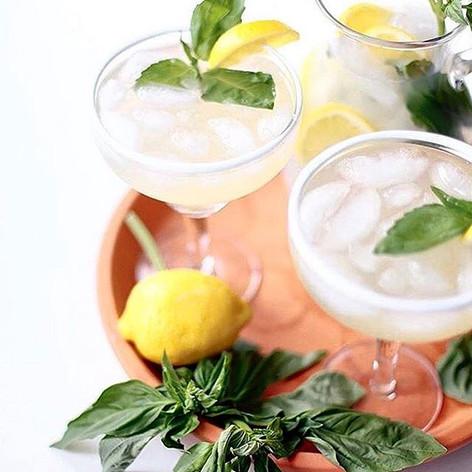 Basil Bourbon Lemondrop