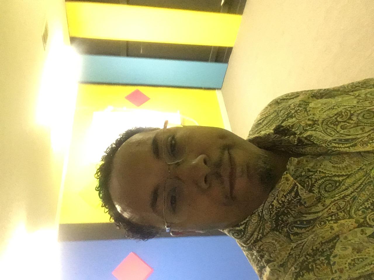 Pastor Blue in class room