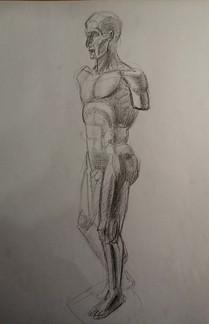 Никольский К. Рисунок, фигура Экорше эск