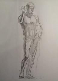 Никольский К. Рисунок, фигура Германика