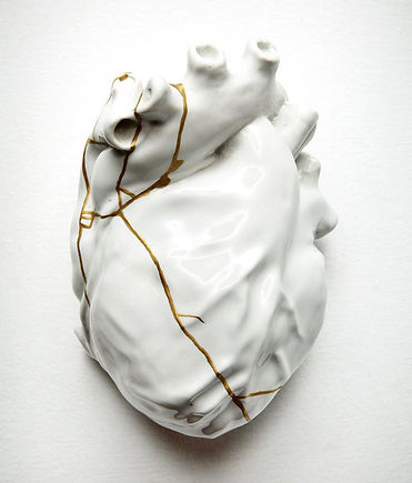 REPAIRED HEART (KINTSUGI STUDY, #4) 2015 by TJ Volonis (Credit: vanderbiltrepublic.com)