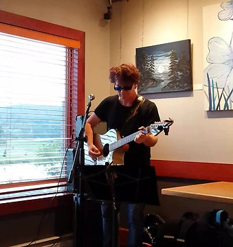 Performing at Creek Village Gallery & Cafe in Woodstock NB. Aug 14, 2018