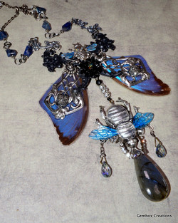 Bees Dripping Honey Necklace
