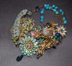Bluebird Spring Statement Necklace