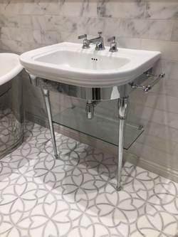 Chrome Bathroom Wash Stand