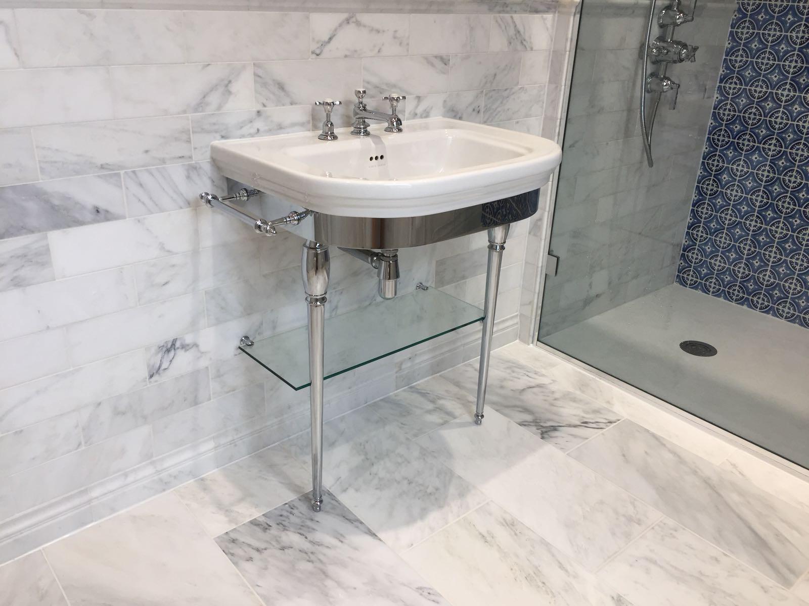 Chrome Wash Basin Stand