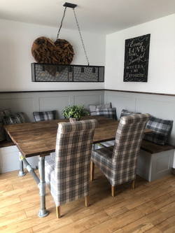 Rustic Kitchen Booth