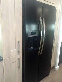Built In Fridge with side cabinets