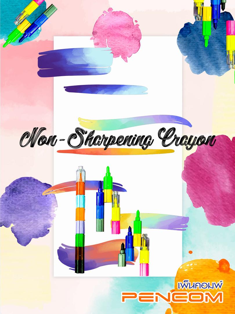 Non-Sharpening Crayon