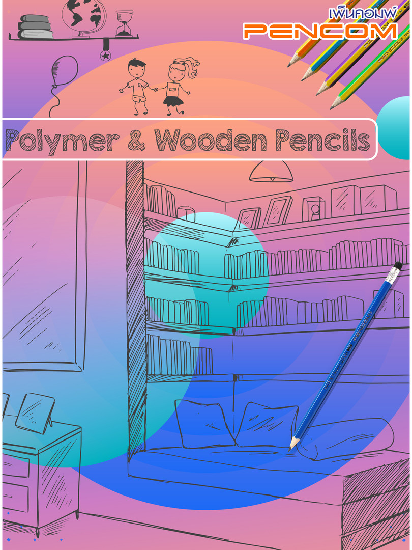 Polymer-Wooden Pencils