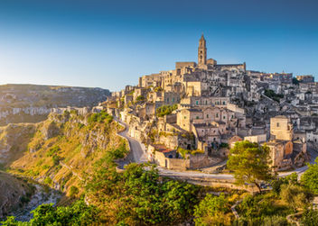 Panoramic view of ancient town of Matera