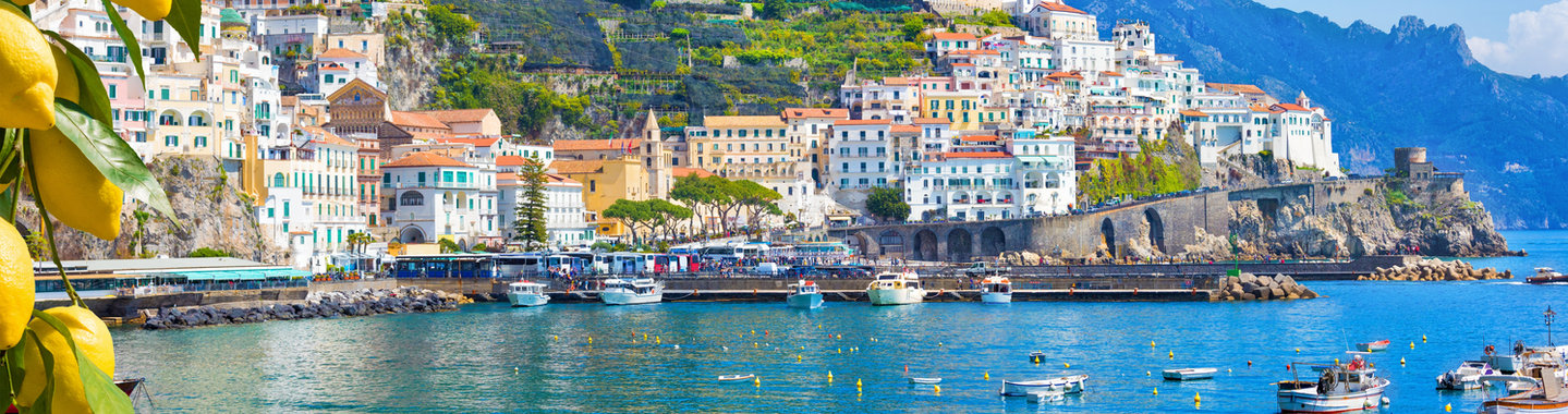 Panoramic view of beautiful Amalfi