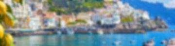 Panoramic view of beautiful Amalfi on hi