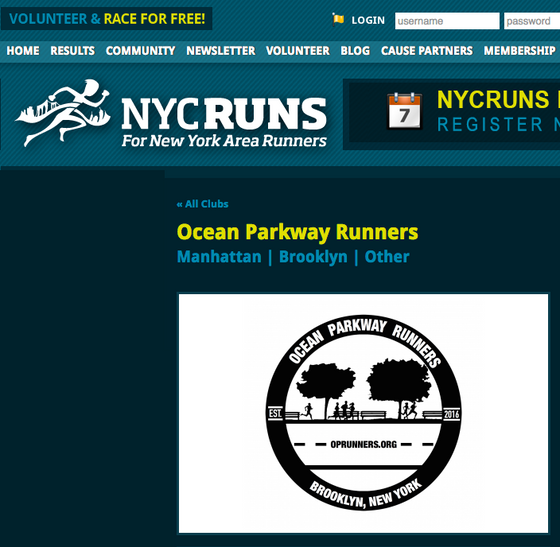 OP Runners join club membership with NYCRuns