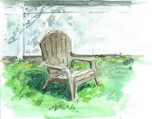 Chair in early spring