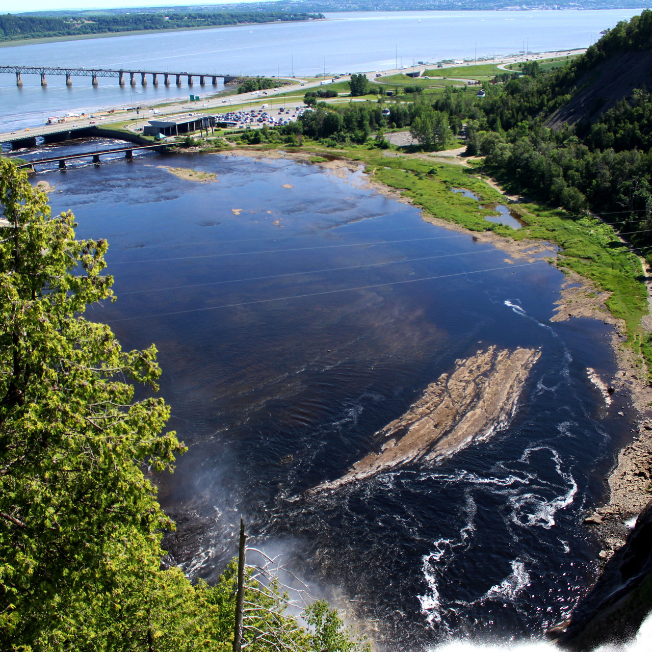The drop from Montmorency Falls
