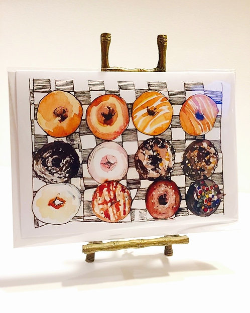 Donut Greeting Card