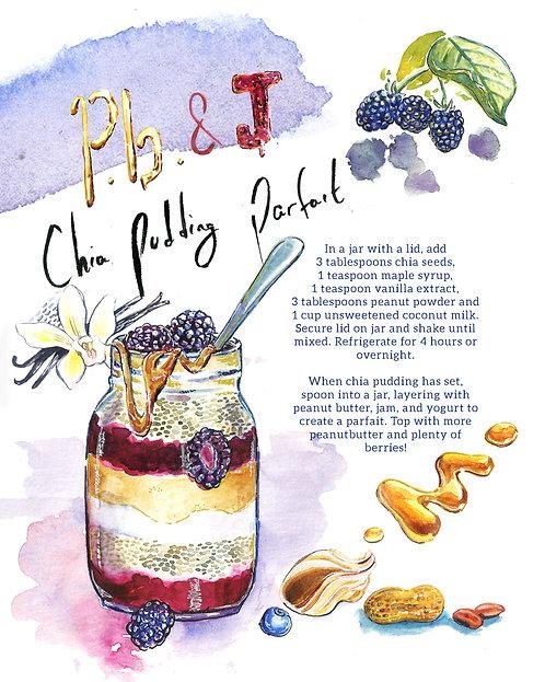 PB & J Chia Pudding Parfait