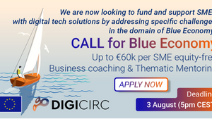 DigiCirc will create new opportunities for SMEs in the domains of Blue Economy