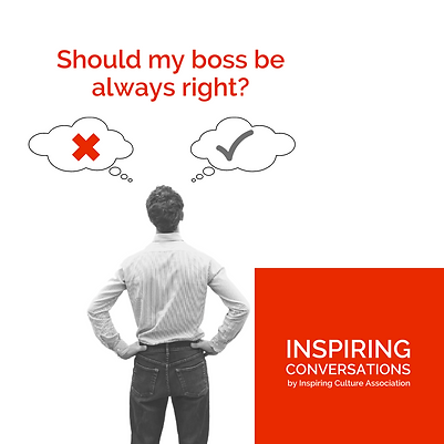 Should my boss be always right?