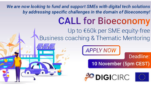 DigiCirc will create new opportunities for SMEs in the domains of Bioeconomy