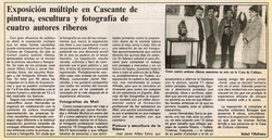 1992.01.05.dn. exposicion multiple en cascante de pintura escultura y fotografia