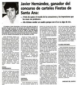 1989.06.10.lvdlr. javier hernandez ganador del concurso de carteles de fiestas d
