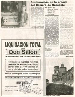 1993.10.06.la ribera tudelana. restauracion de la arcada del romero de cascante.