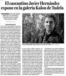 2008.12.07.diario de noticias. el cascantino javier hernandez expone en la galer