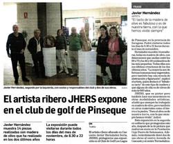2013.11.07.DN. El artista JHERS expone en el club de golf de Pinseque.jpg