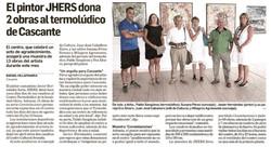 2013.08.07.DN. El pintor JHERS dona 2 obras al termoludico de Cascante.jpg