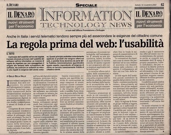 La regola prima del web: l'usabilità