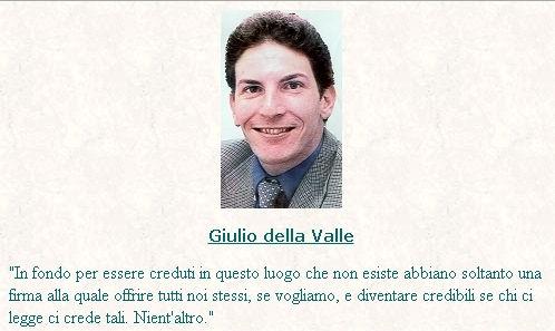 Giulio della Valle | Primo sito Personale