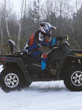 Four Wheeler in Snow