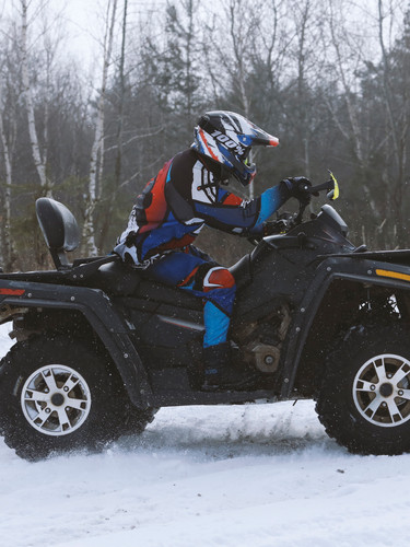 Four Wheeler in Snow