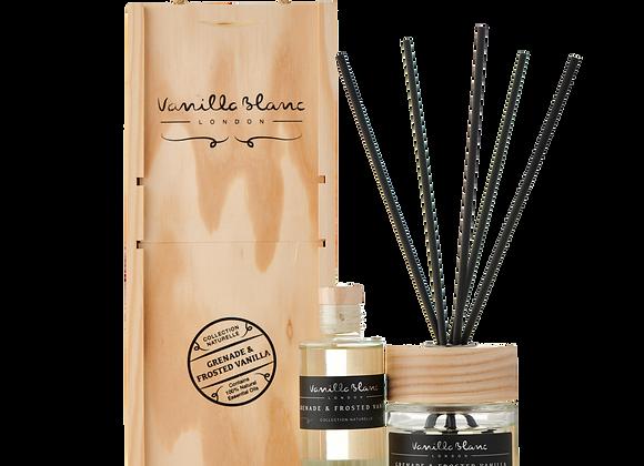 Vanilla Blanc Grenade & Frosted Vanilla Diffuser Set With Refill