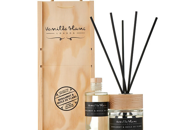 Vanilla Blanc  Bergamot & Huile de Ylang Diffuser Set with Refill