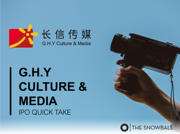 G.H.Y Culture & Media | IPO Quick Take