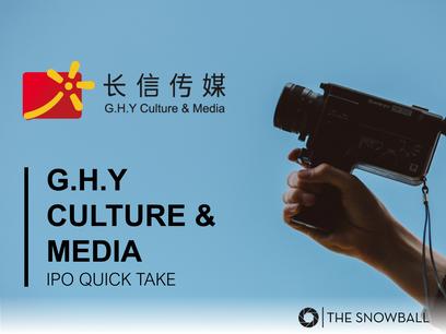 G.H.Y Culture & Media | IPO Quick Take