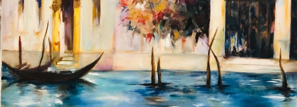 Boat, Oil on canvas, 60x40cm, Alia Saeed